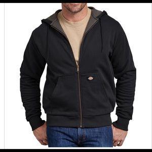 Dickies Thermal Lined Fleece Hoodie, Black